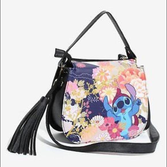 c050cc044f6 LOUNGEFLY Disney Lilo   Stitch Festival Handbag
